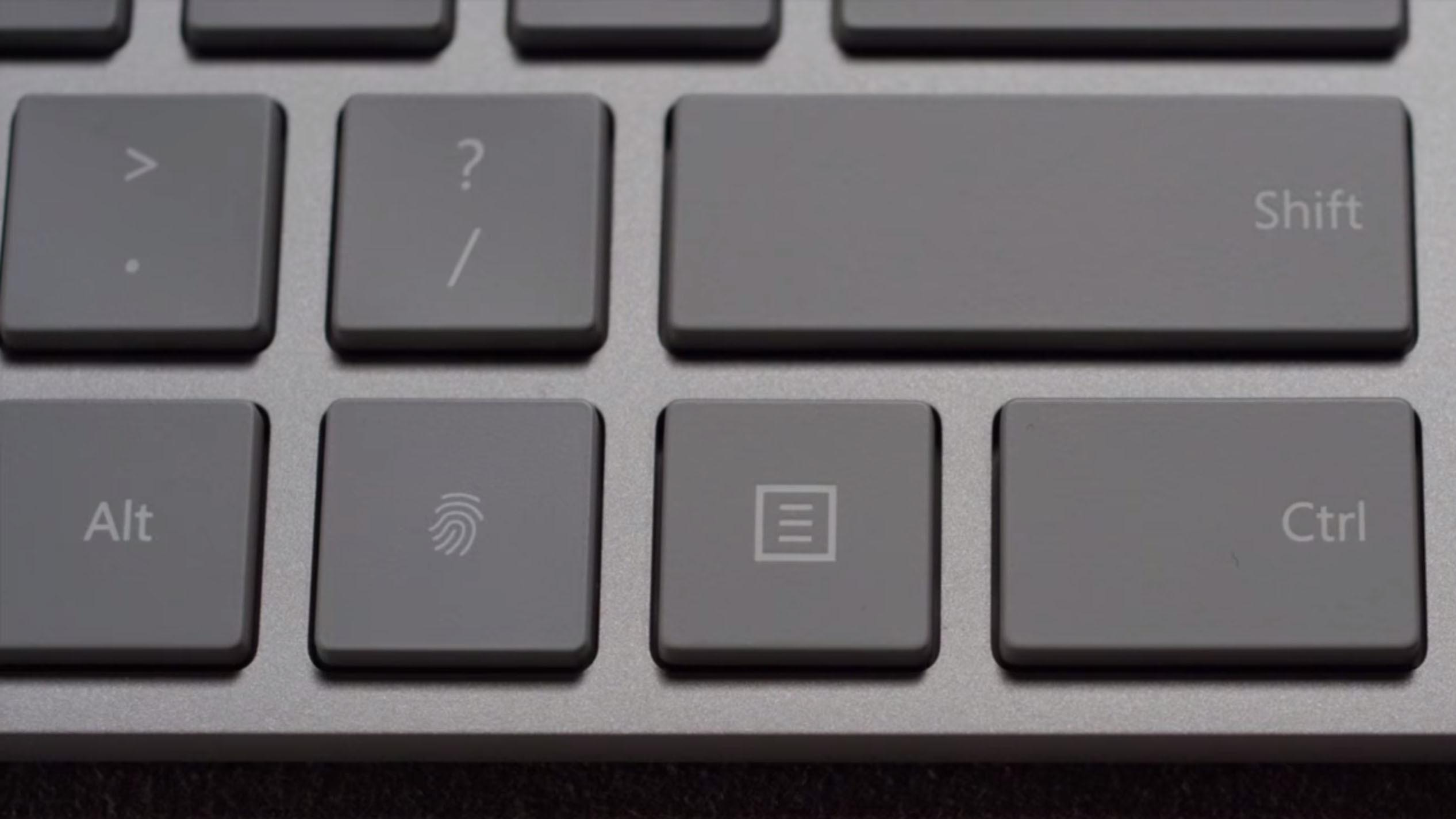 Microsoft Modern Keyboard klawisze