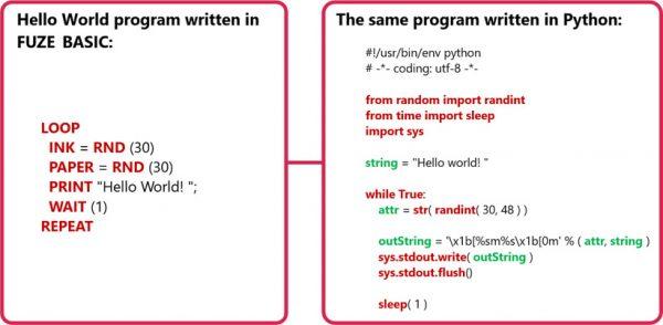 fuze basic i python programowanie