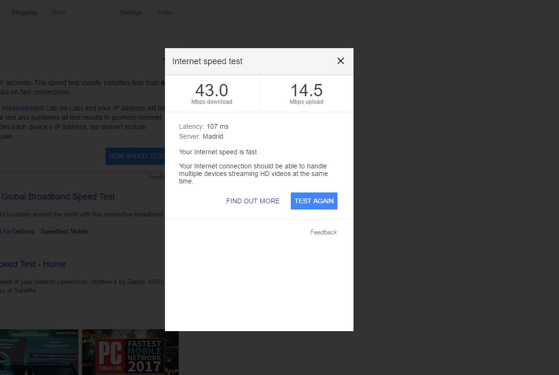 test szybkości internetu po raz drugi