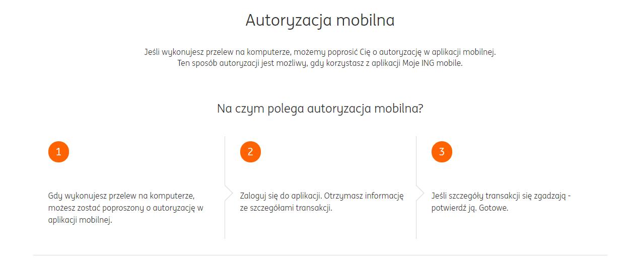 autoryzacja mobilna ing