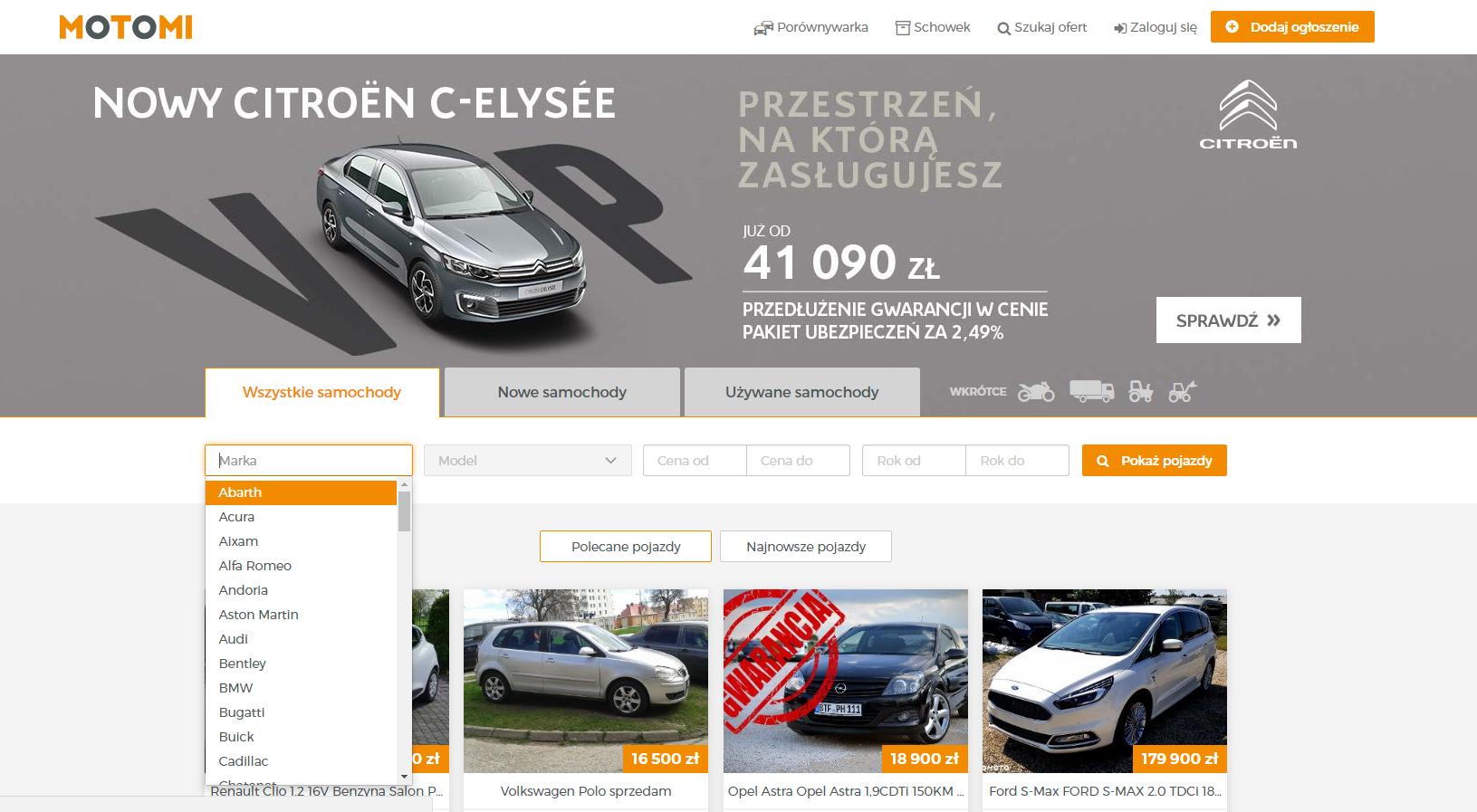 motomi.pl strona główna