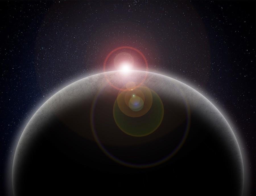 planeta i światło