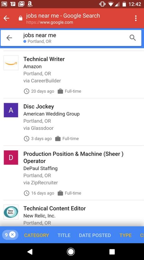 google poszukiwanie pracy