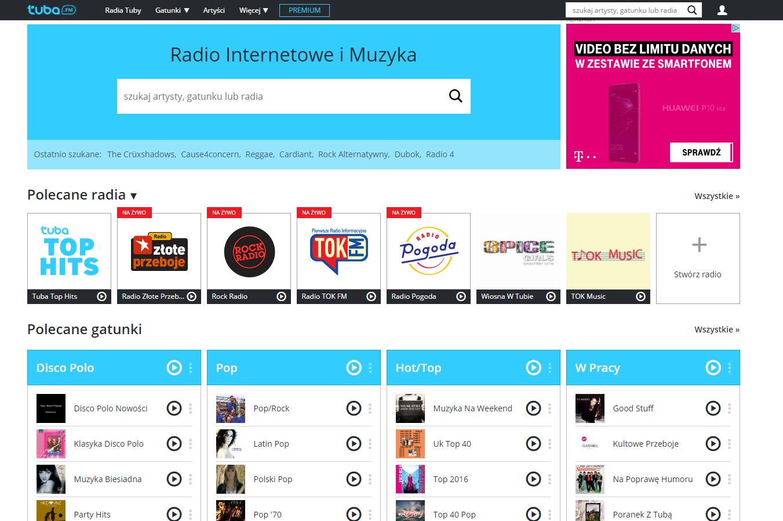 radio internetowe tuba.fm strona