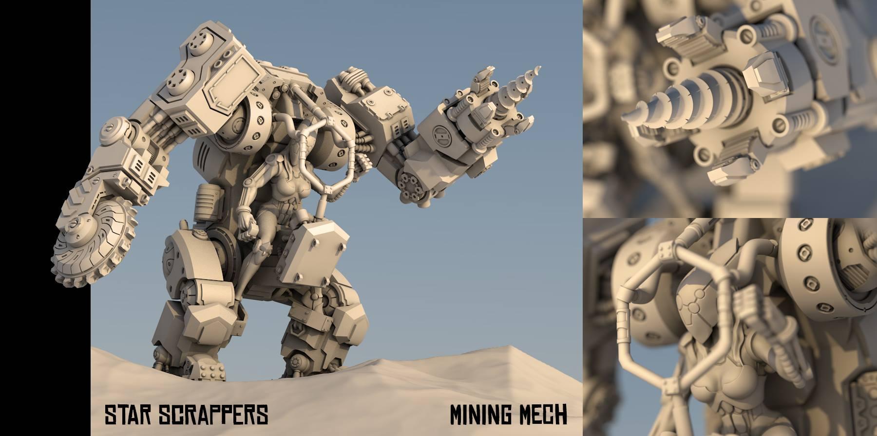 star scrappers mining mech figurka