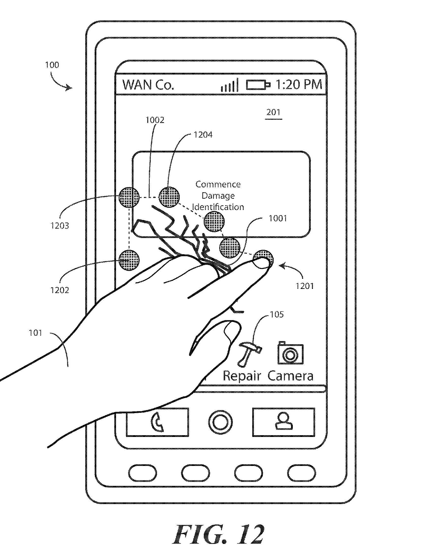 Motorola - rysowanie miejsc pęknięć