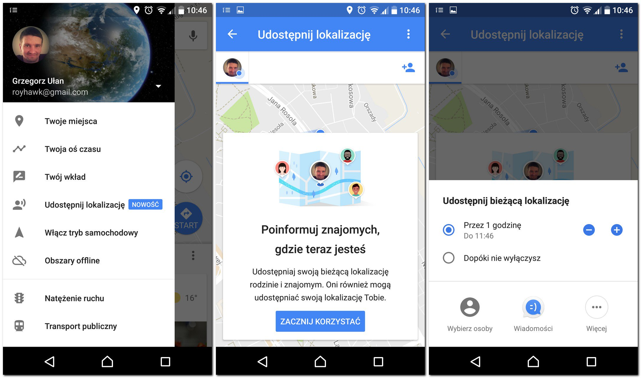 smartfon funkcja udostępnij lokalizację