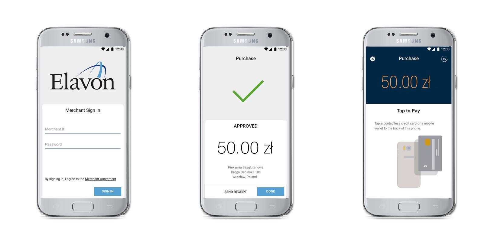 smartfon płatności elavon