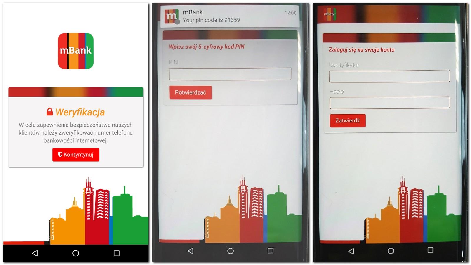 mbank weryfikacja smartfon logowanie