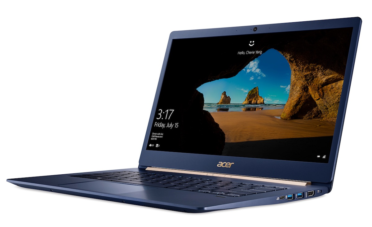 acer swift 5 - otwarty laptop i jego wygląd