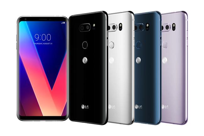 LG V30 różne kolory smartfonu