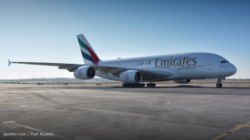Airbus A380 na Okęciu