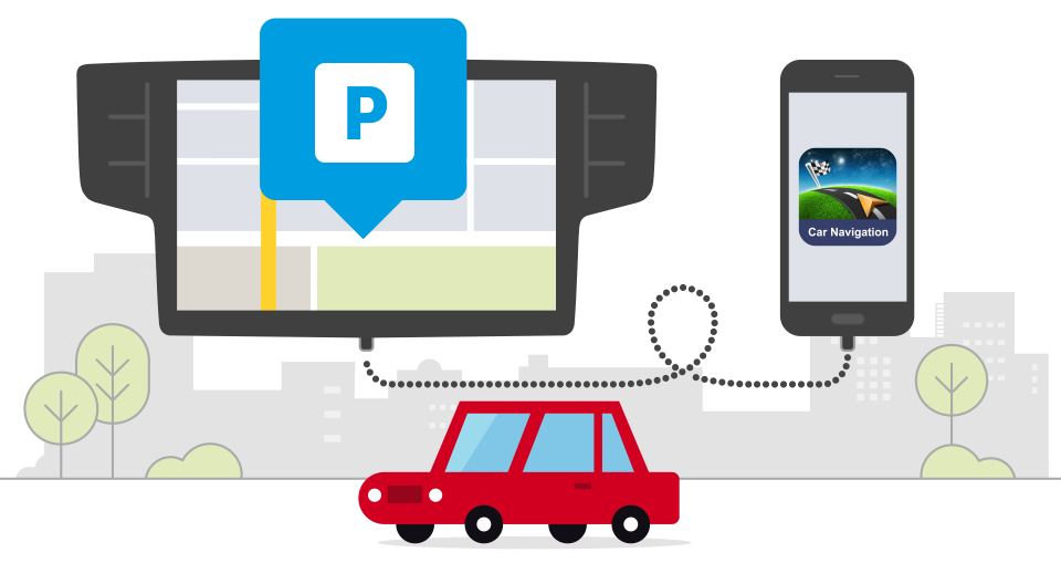 real time parking sygic grafika