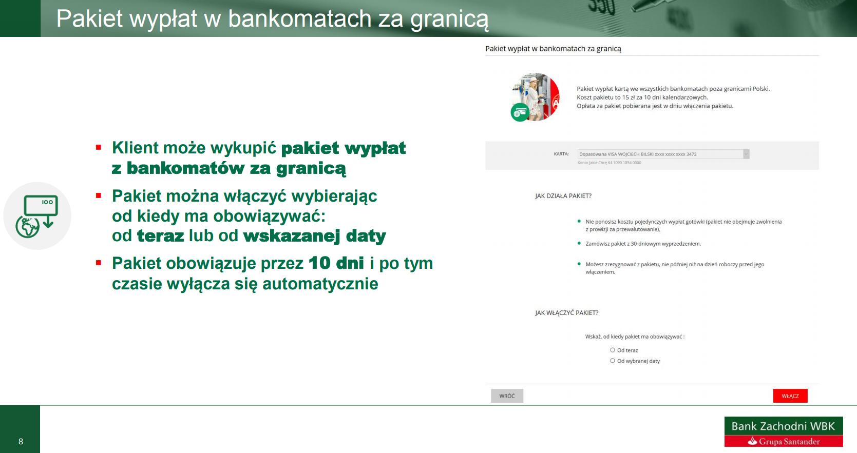 pakiet wypłat z bankomatów w BZWBK
