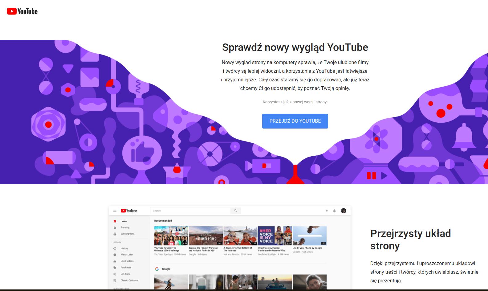 youtube nowy wygląd