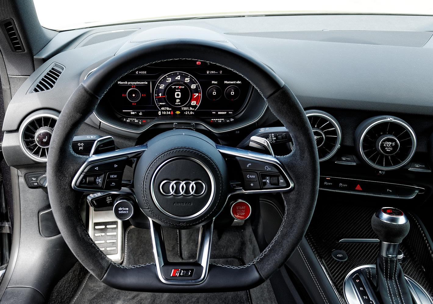 Wnętrze w Audi TT RS