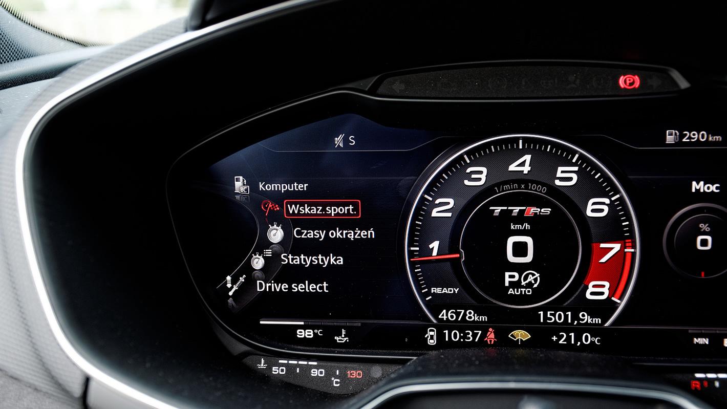 Wirtualny kokpit w Audi TT RS