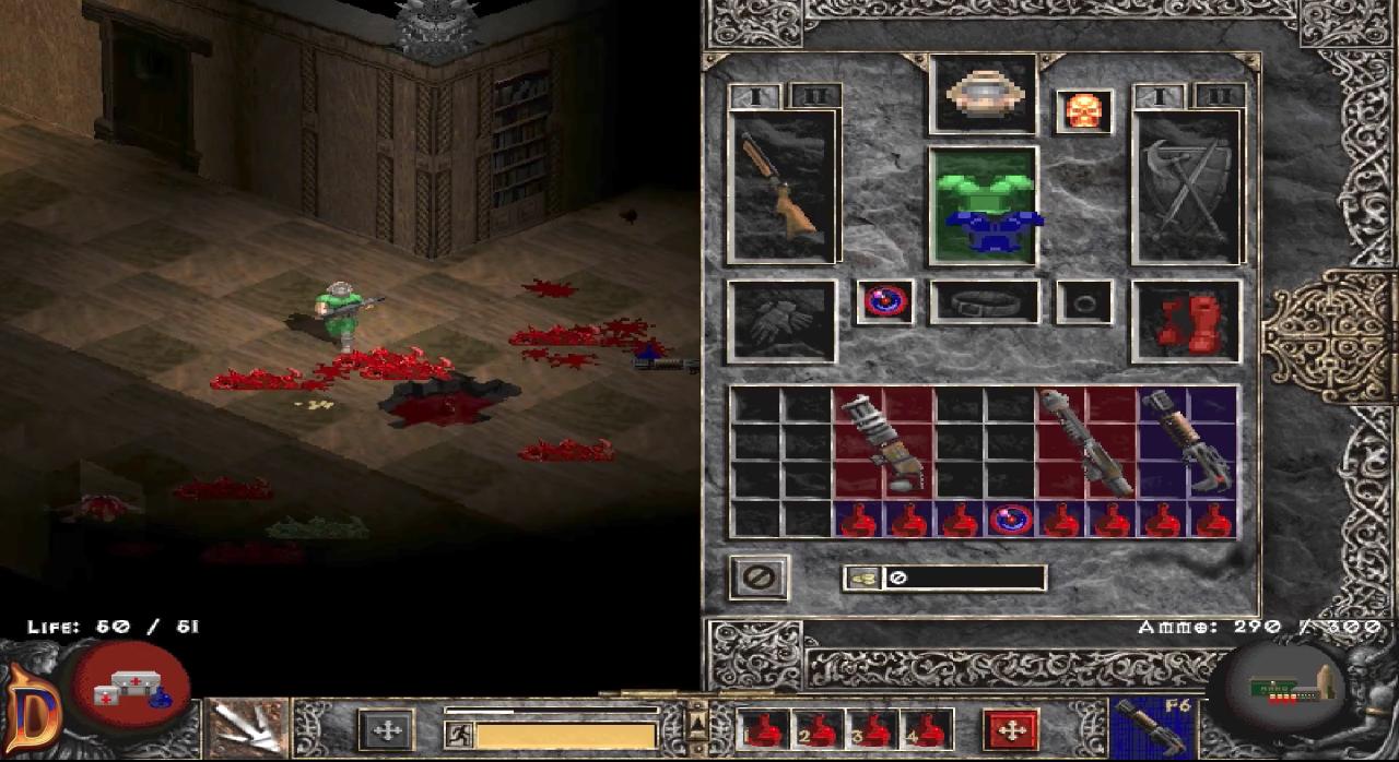 Doom na silniku Diablo - ekwipunek