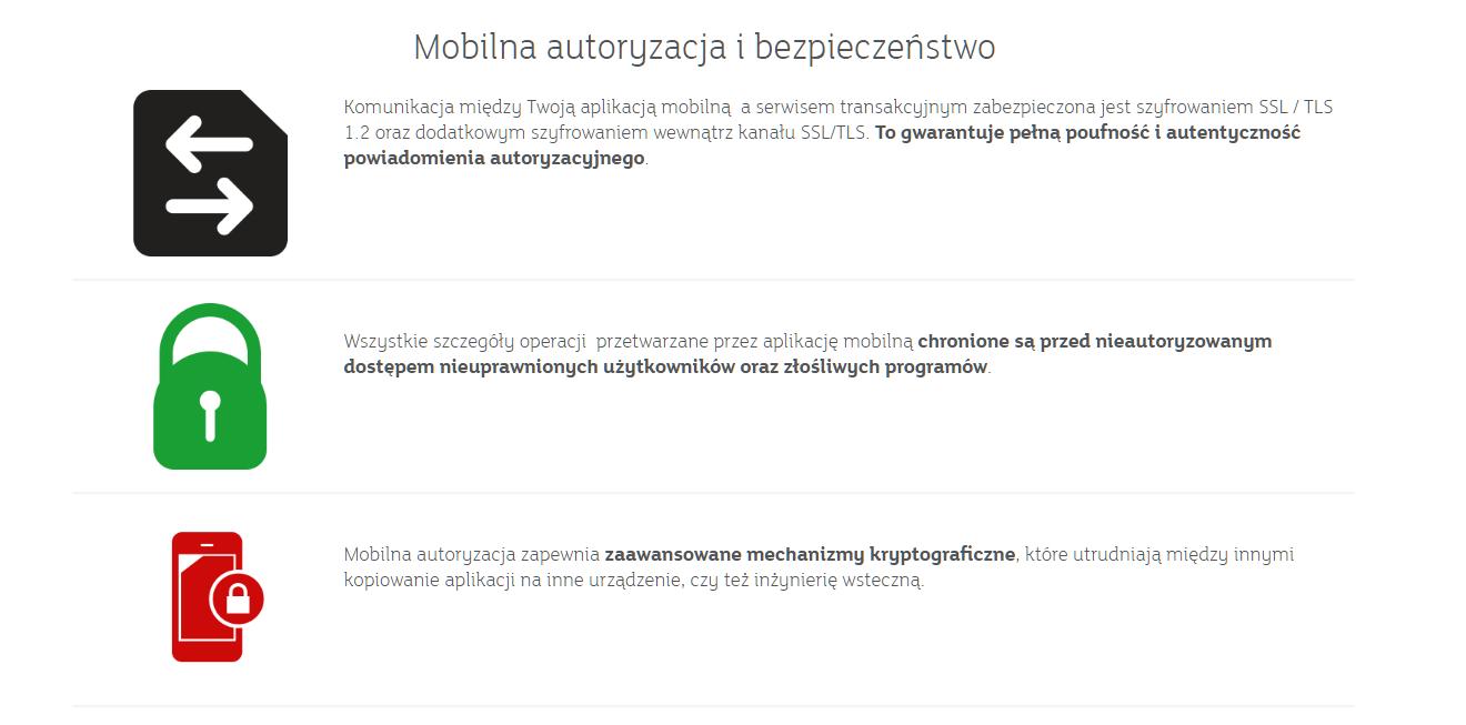 mobilna autoryzacja i bezpieczeństwo grafika mbank