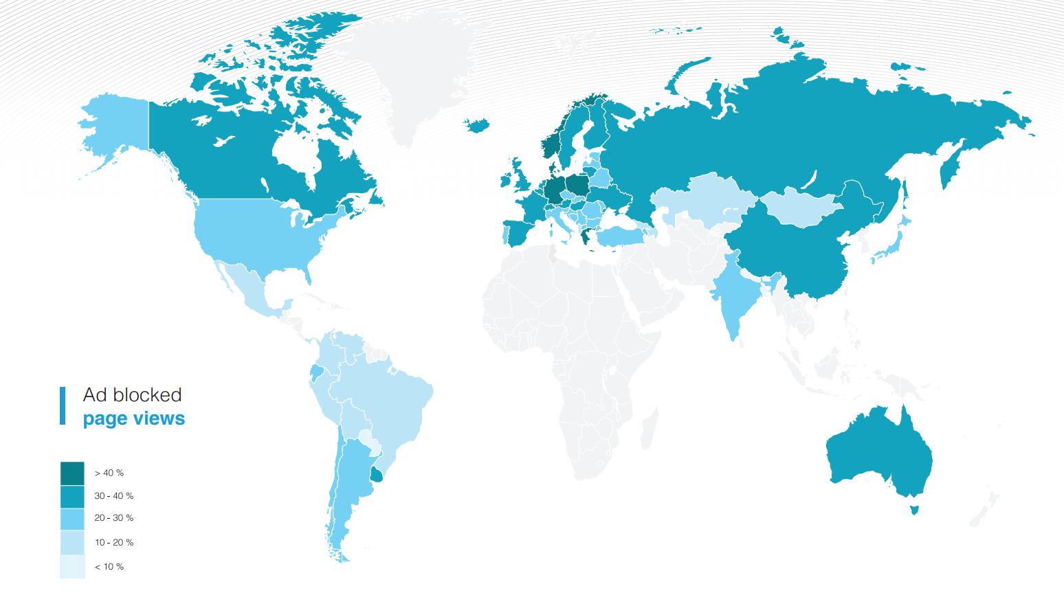 % ilosc zablokowanych stron na świecie