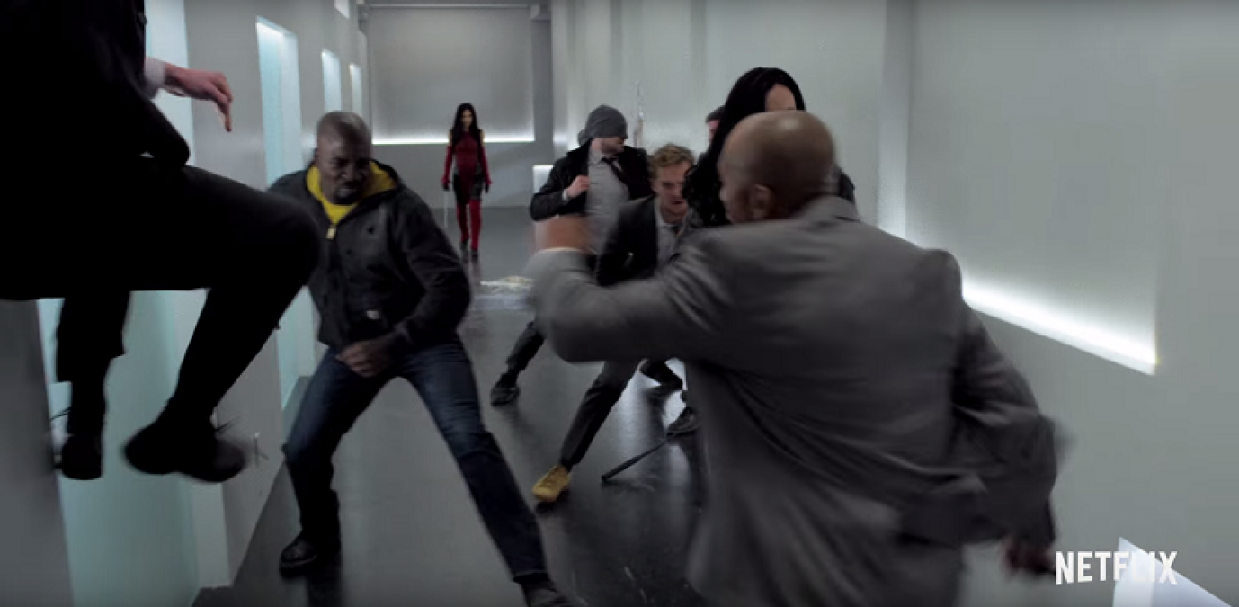 The Defenders ujęcie - scena walki