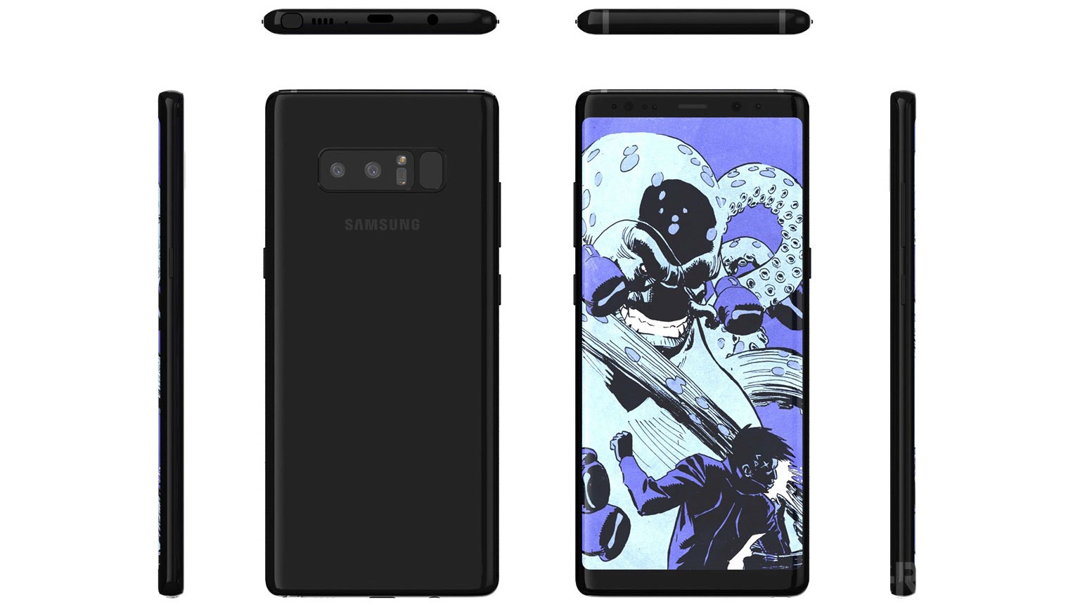 galaxy note 8 - pełny design
