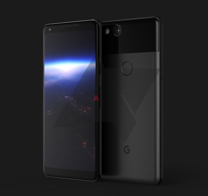 Google Pixel XL 2 - prawdopodobny wygląd, rendery