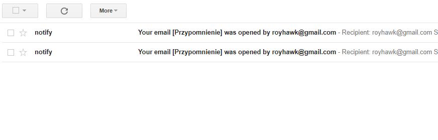 wygląd mailingu w gmailu screenshot