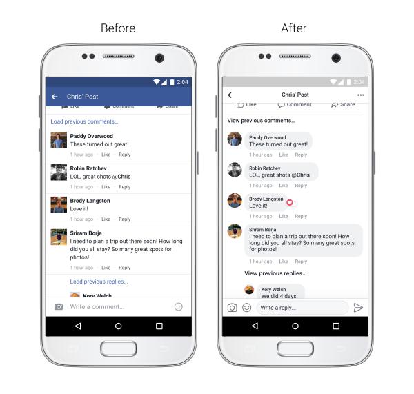 styl komentarzy facebook wygląd przed i po