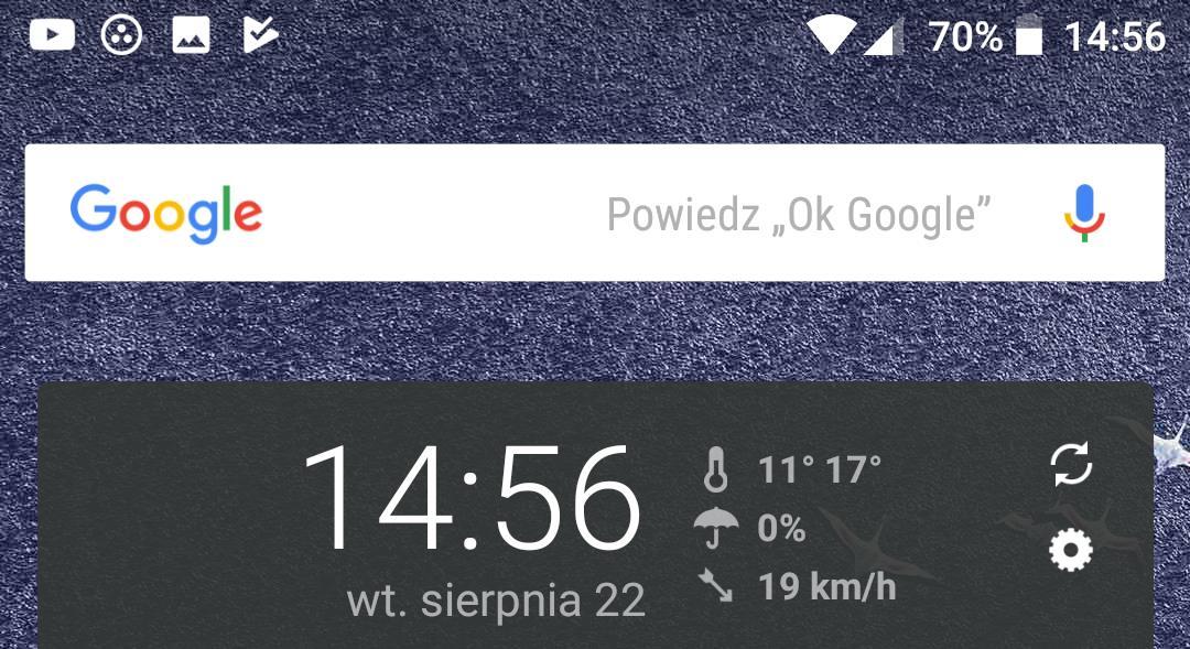 zmiany w androidzie 10 oreo - wskaźnik % naładowania