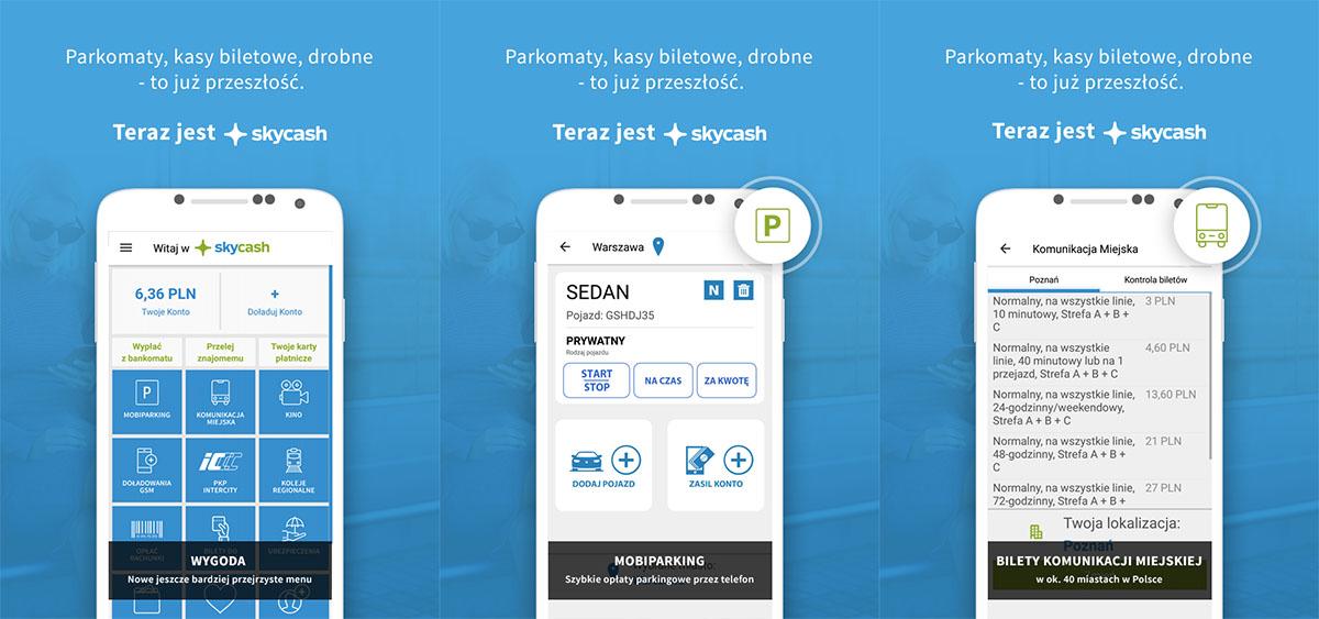SkyCash aplikacja na android i ios