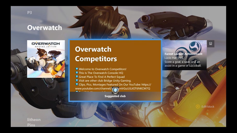 xbox nowe menu - blok tematyczny overwatch