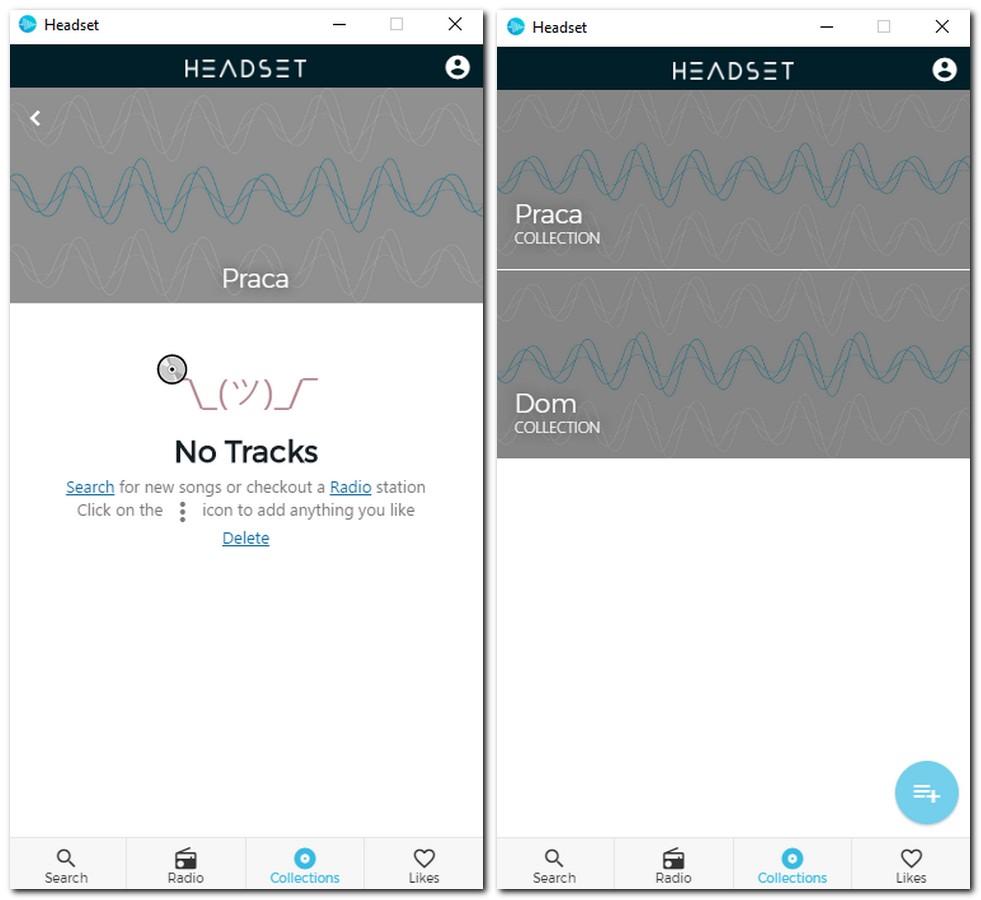 headset wyszukiwanie tracków