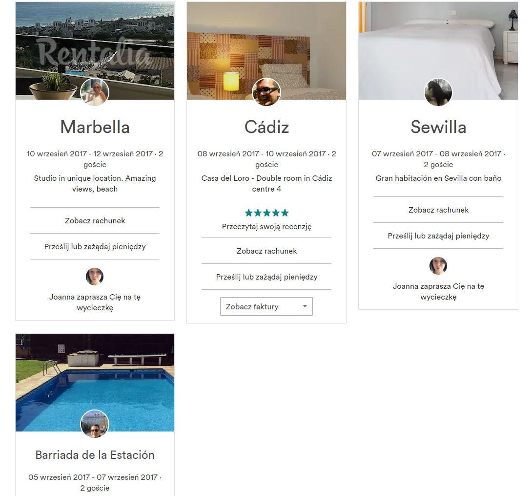 propozycje wycieczek airbnb