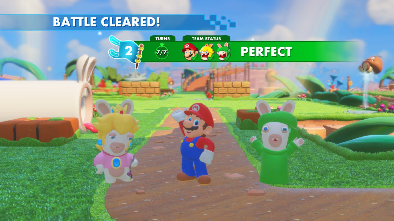Mario + Rabbids: Kingdom Battle - wygrana bitwa