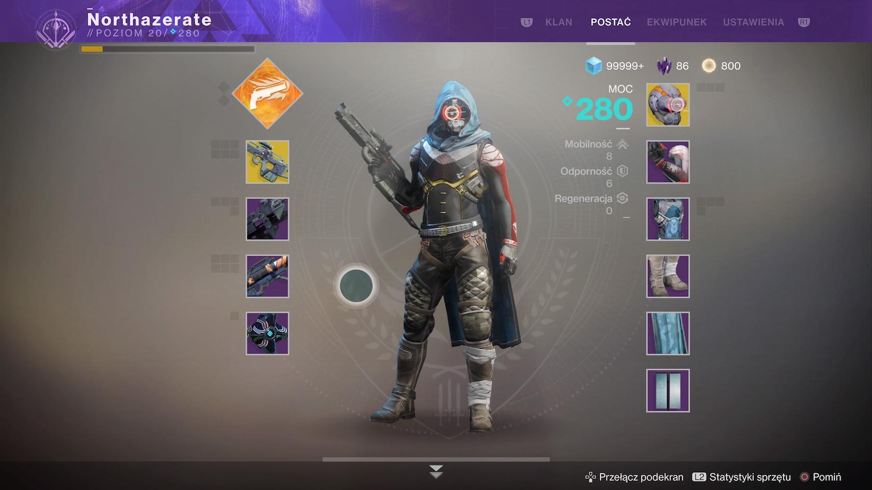 destiny 2 - informacje o postaci