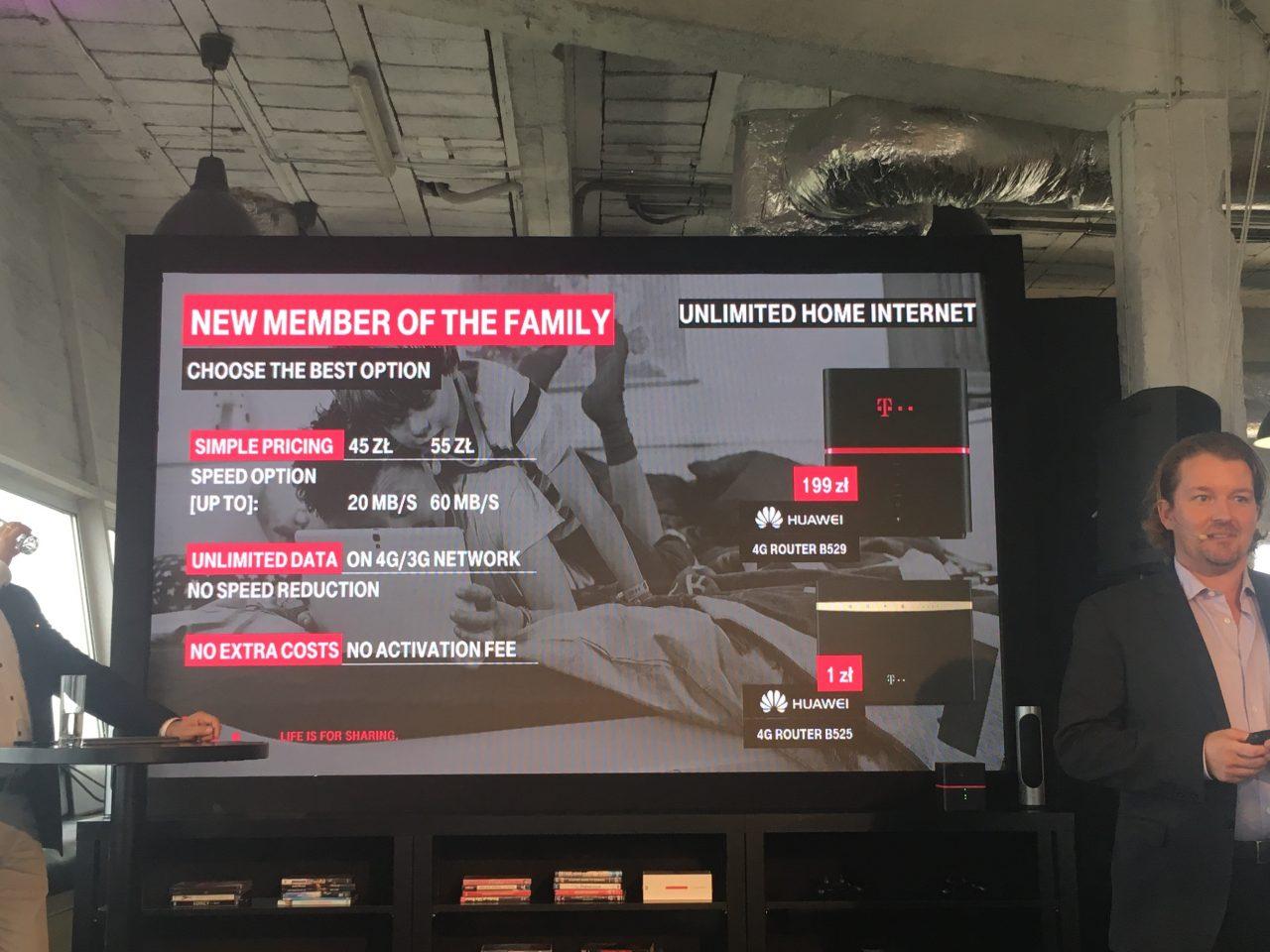 internet domowy bez limitu danych w t-mobile