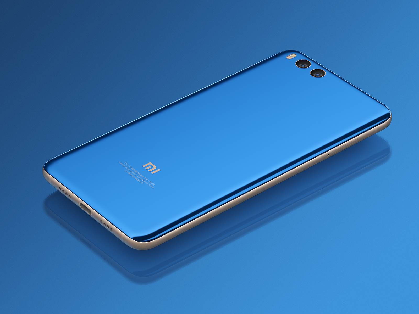 Xiaomi Mi Note 3 - niebieski