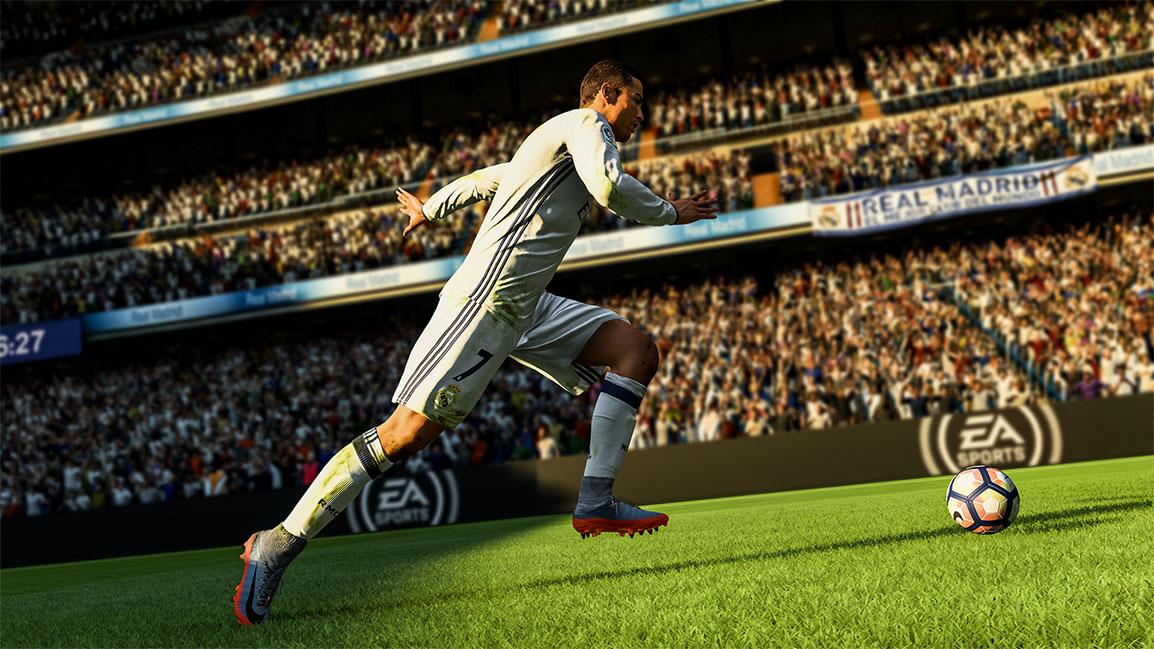 akcja w grze fifa 18 - cristiano ronaldo