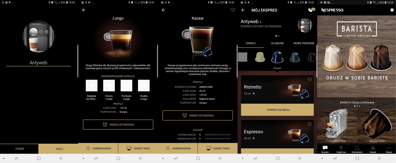 espresso typy kawy ustawienia