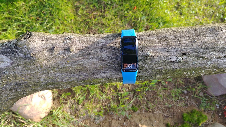 Hykker SmartyFit 2 - zegarek przypięty do drzewa