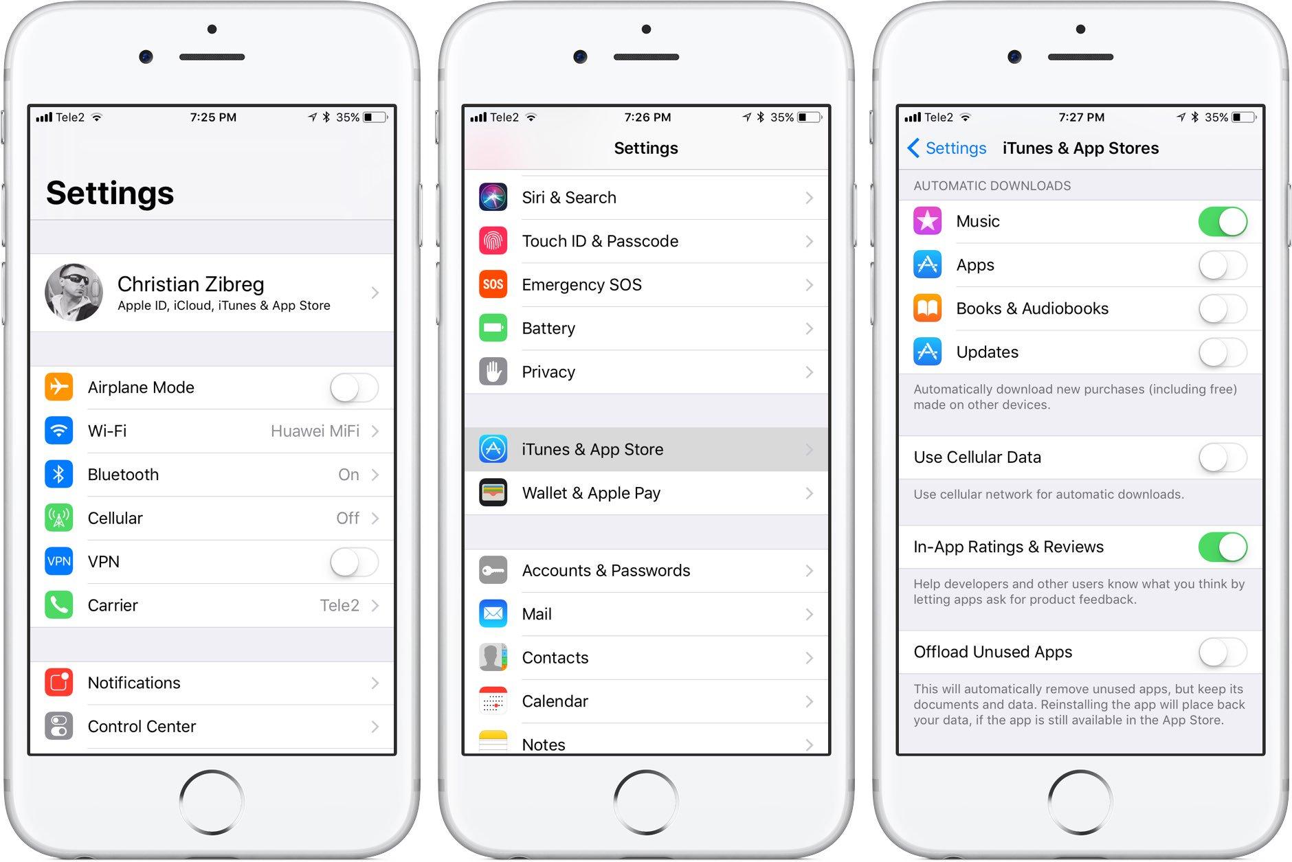 Nowa wersja systemu iOS 11 - wygląd na iPhone