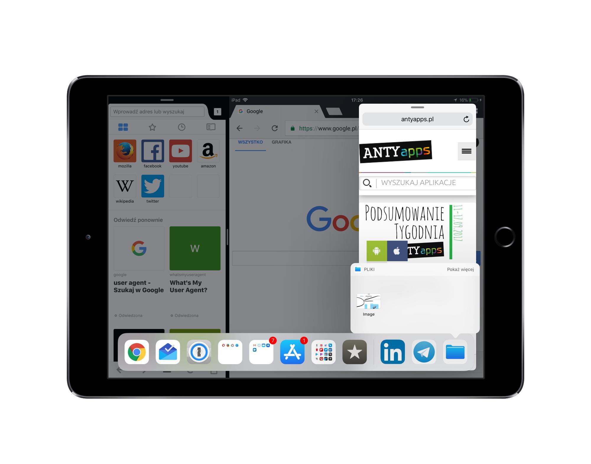 ipad nowy ios11 aplikacje