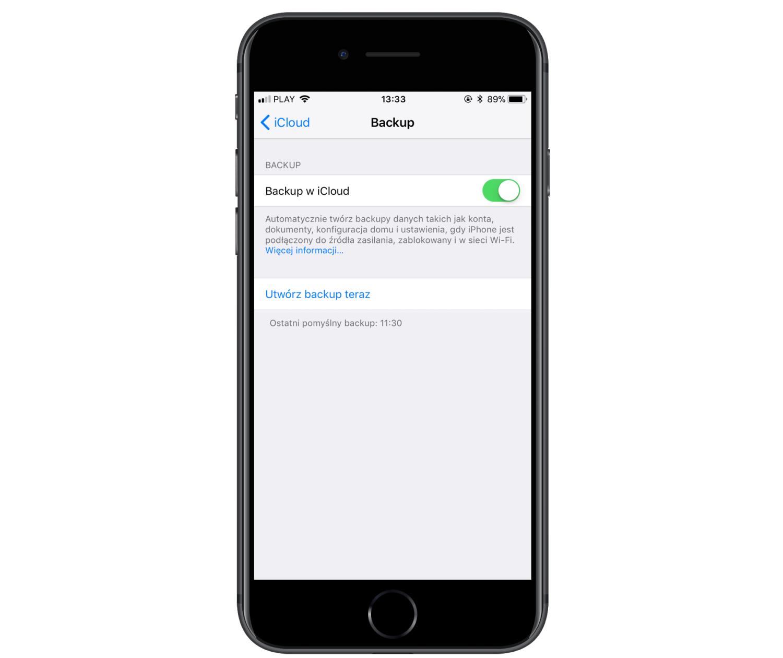 backup w icould - ios iphone