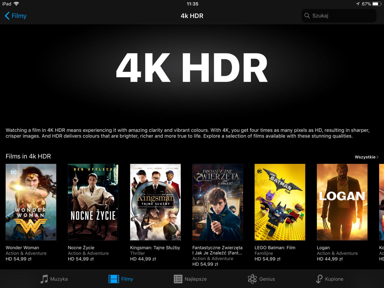4K HDR filmy