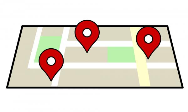 mapa gps - grafika