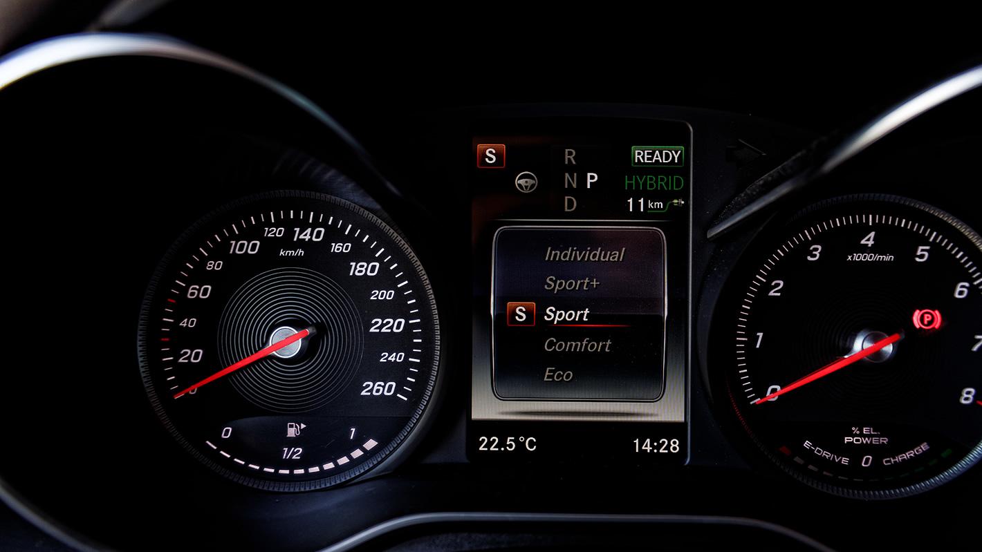 Tryby jazdy w Mercedes-Benz GLC 350 e 4Matic