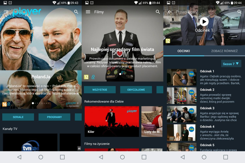 prezentacja player.pl na smartfonie