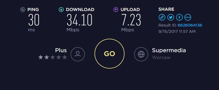 plus - słaby zasięg i prędkość internetu