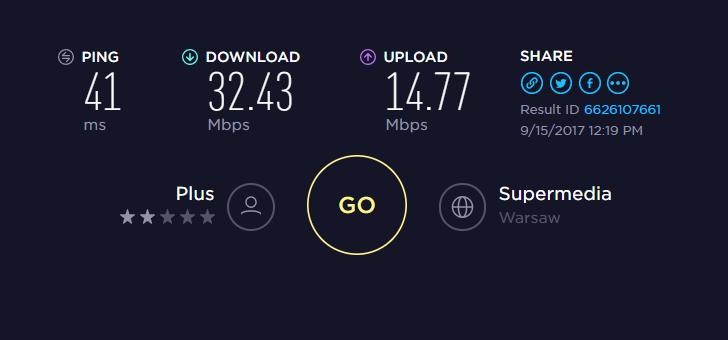 plus - prędkość internetu przy 3 pracujących maszynach